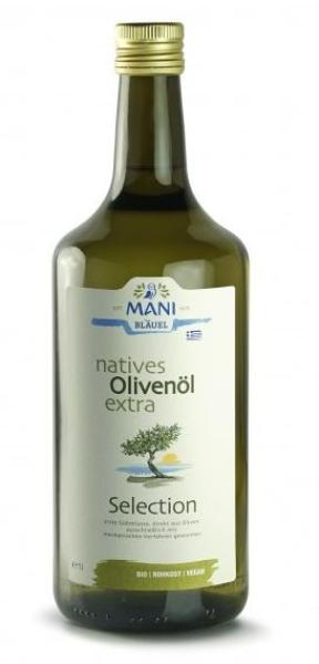 MANI natives Olivenöl extra, Selection, bio, 1 l Flasche